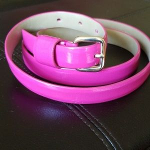 Talbots Accessories - Talbots 100% Leather Belt, Hot Pink, Large